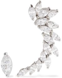 Kenneth Jay Lane - Silver-tone Cubic Zirconia Earrings - Lyst