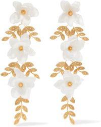 Mallarino - Gaby Gold Vermeil Silk Earrings - Lyst