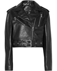 Proenza Schouler - Cropped Fitted Biker Jacket - Lyst