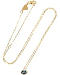 Alison Lou - 14-karat Gold, Topaz And Diamond Necklace - Lyst