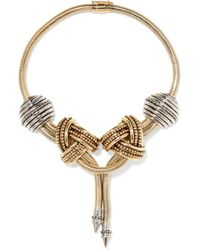 Etro - Gold And Silver-tone Necklace - Lyst