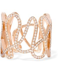 Repossi | White Noise 18-karat Rose Gold Diamond Ring | Lyst