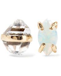 Melissa Joy Manning - 14-karat Gold, Herkimer Diamond And Opal Earrings - Lyst