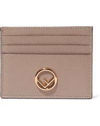 Fendi - Textured-leather Cardholder - Lyst