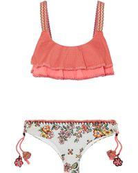 Anjuna - Francina Crochet-trimmed Printed Bikini - Lyst