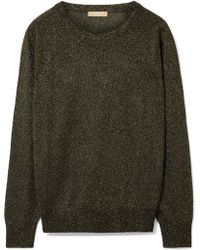 Michael Kors - Metallic Knitted Jumper - Lyst