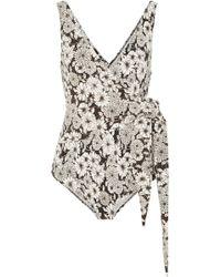 Lisa Marie Fernandez - Dree Louise Floral-print Wrap Swimsuit - Lyst