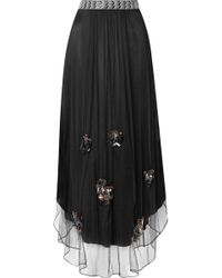 By Malene Birger - Beverlyh Embellished Tulle Maxi Skirt - Lyst