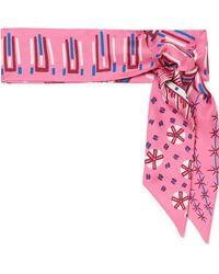 Valentino - Printed Silk-twill Scarf - Lyst
