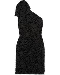 IRO - Mini-robe Asymétrique En Crêpe Floqué Moon - Lyst c249532bd2c2