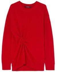 Sies Marjan - Brynn Gathered Ribbed Cashmere Sweater - Lyst