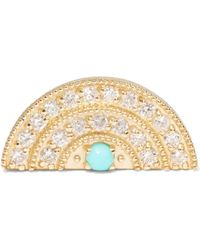 Andrea Fohrman | 18-karat Gold, Diamond And Turquoise Earring | Lyst