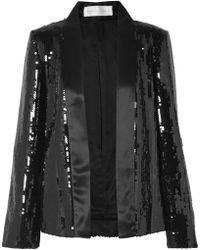 Victoria, Victoria Beckham - Sequined Satin Jacket - Lyst