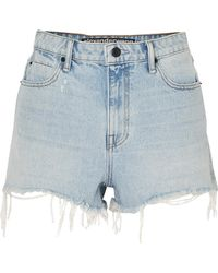 Alexander Wang - Bite Frayed Denim Shorts - Lyst