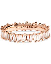 Suzanne Kalan - 18-karat Rose Gold Diamond Ring - Lyst