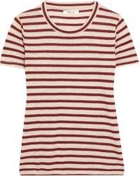 Madewell - Garrett Metallic Striped Jersey T-shirt - Lyst