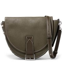 JW Anderson - Bike Lace-up Smooth And Textured-leather Shoulder Bag - Lyst