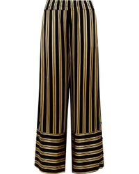 By Malene Birger - Brinni Striped Satin Wide-leg Pants - Lyst