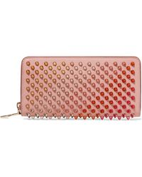 Christian Louboutin - Panettone Spiked Leather Wallet - Lyst