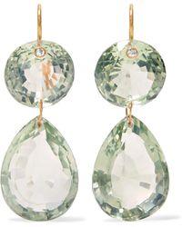 Marie-hélène De Taillac - Girandole 22-karat Gold Quartz Earrings - Lyst