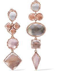 Larkspur & Hawk - Sadie Rose Gold-dipped Quartz Earrings - Lyst