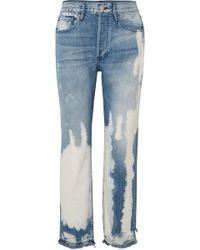 3x1 - W3 Higher Ground Bleached Distressed High-rise Straight-leg Jeans - Lyst