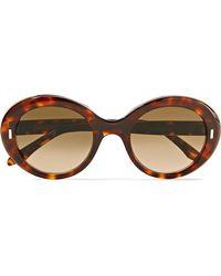Cutler & Gross - Round-frame Tortoiseshell Acetate Sunglasses - Lyst