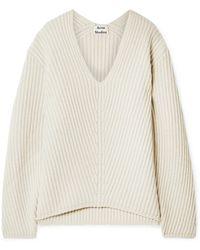 Acne Studios - Deborah Ribbed Wool Sweater - Lyst