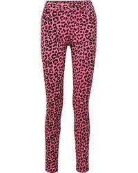 Gucci - Leopard-print High-rise Skinny Jeans - Lyst