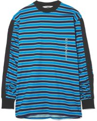 Givenchy - Twill-trimmed Printed Striped Cotton-jersey Top - Lyst