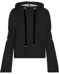 Mother Of Pearl - Doyle Embellished Cotton And Modal-blend Hooded Sweatshirt - Lyst