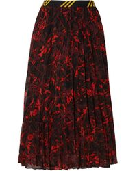 By Malene Birger - Okka Pleated Printed Chiffon Midi Skirt - Lyst