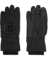 Fendi - Appliquéd Stretch-jersey Ski Gloves - Lyst