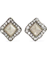 Kimberly Mcdonald - 18-karat Blackened White Gold Diamond Earrings White Gold One Size - Lyst