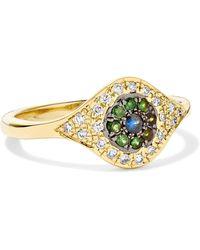 Ileana Makri - Cats Eye 18-karat Gold Multi-stone Ring - Lyst