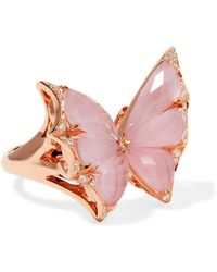 Stephen Webster - Fly By Night 18-karat Rose Gold Multi-stone Ring - Lyst