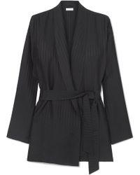 Eres - Midday Striped Silk-satin Jacquard Robe - Lyst