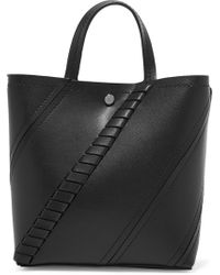 Proenza Schouler - Hex Paneled Textured-leather Tote - Lyst