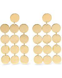 Saskia Diez - Paillettes Chandelier 18-karat Gold-plated Earrings - Lyst
