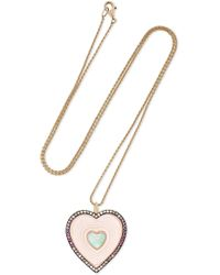 Noor Fares - Anahata 18-karat Gray Gold Multi-stone Necklace - Lyst