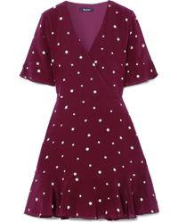 Madewell - Printed Silk Mini Dress - Lyst