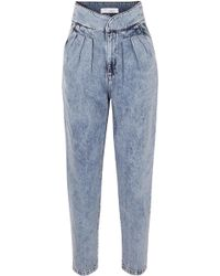 IRO - Staunch Pleated High-rise Tapered Jeans - Lyst