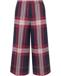 By Malene Birger - Plaid Cropped Trousers - Lyst