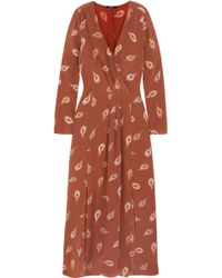 Madewell - Agata Printed Silk Crepe De Chine Maxi Dress - Lyst
