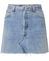 Re/done | + Levi's Distressed Denim Mini Skirt | Lyst
