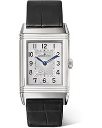 Jaeger-lecoultre - Reverso Classic Medium Thin 24.4mm Stainless Steel And Alligator Watch - Lyst