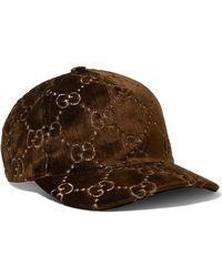 Gucci - Brown GG Embroidered Silk-blend Baseball Cap - Lyst