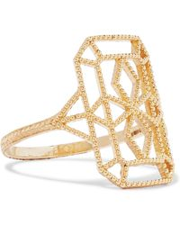 Grace Lee - Lace Deco Viii 14-karat Gold Ring - Lyst