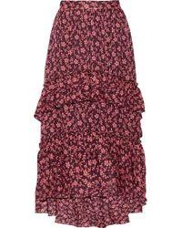 Ulla Johnson - Maria Printed Cotton And Silk-blend Jacquard Maxi Skirt - Lyst