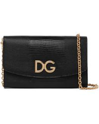 Dolce & Gabbana - Sac Porté épaule En Cuir Effet Lézard - Lyst